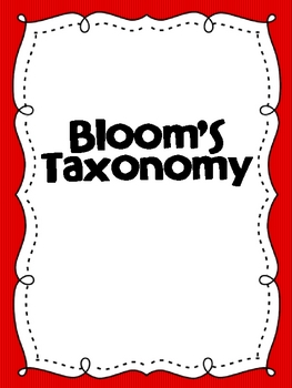 Colorful Bloom's Taxonomy Posters