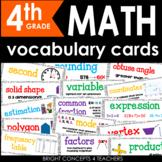Common Core Math Vocabulary Cards-Fourth Grade