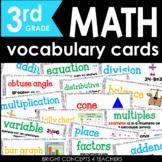Common Core Math Vocabulary Cards-Third Grade