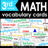 Common Core Math Vocabulary Cards-Third Grade