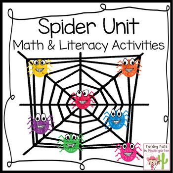Colorful Spiders - a Math & English Language Arts Fun Fall Unit!