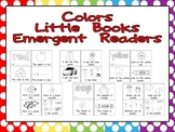 Color Words Emergent Reader Little Books- Preschool or Kin