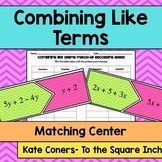 Combining Like Terms Matching Center