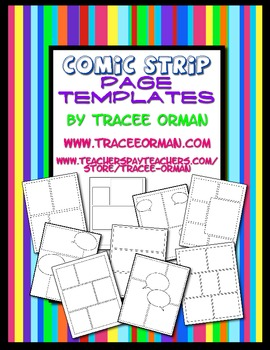 comic strip template download  Free Download: Comic Strip Template Pages for Creative Assignments
