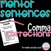 Comma Rules Using Mentor Sentences for Middle and High School