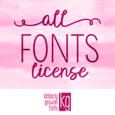 Font License- ALL FONTS
