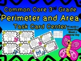 Common Core 3rd Grade- Perimeter and Area Task Cards