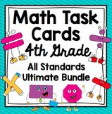 Common Core 4th Grade  Math Task Cards Mega Bundle - All D