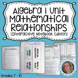 Common Core Algebra 1 Mathematical Relationships Unit ~For