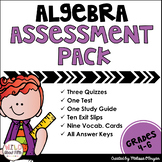 Algebra (order of operations/writing expressions) Assessme