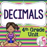 Common Core Aligned 4th Grade Decimals Unit