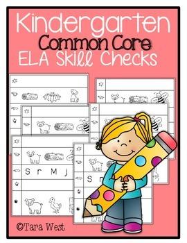 Common Core Aligned ELA Skill Checks {Kindergarten}