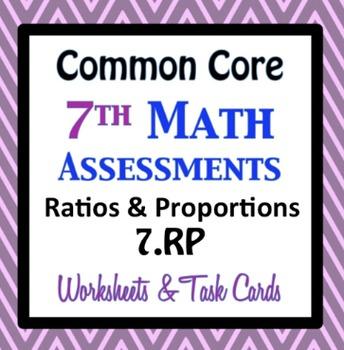 Common Core Assessments Math - 7th - Seventh Grade - Ratio