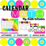 Calendar Math (Flip Chart and Editable PP)