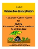 Common Core Centers for Every Informational Text Standard:
