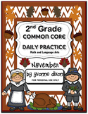 Common Core Daily Practice for Second Grade (November)