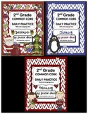 Common Core Daily Practice for Second Grade (Winter Bundle)