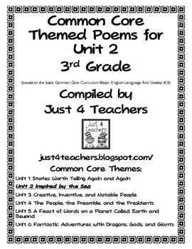 Common Core ELA-3rd Grade Unit 2 Suggested Poems
