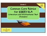 Common Core ELA Rubrics:  Grade 3