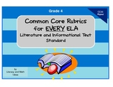 Common Core ELA Rubrics:  Grade 4
