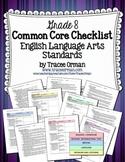 Common Core ELA Standards Checklists Grade 8