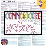 Common Core ELA and MATH Galore {3rd Grade Checklist}