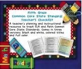 Common Core ELA and Math Checklist Combo (Fifth Grade)