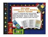 Common Core ELA and Math Checklist Combo (Third Grade)