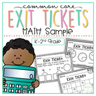 Common Core Exit Tickets {FREEBIE SAMPLER}