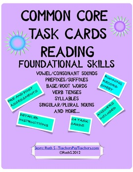 Foundational Skills Task Cards