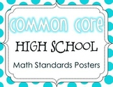Common Core High School Math Standards Posters {Polka Dot