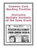 Common Core Informational Text Grades 7-9: The JFK Assassination