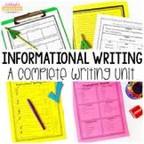 Common Core Informational Writing - A Complete Writing Unit