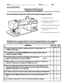Common Core- Introduction to Sewing Machine Operation & Pa