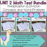 3rd Grade Math Assessment Pack: Unit 2