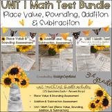 Common Core Math 3rd Grade Assessment Pack Unit 1