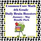 Common Core Math Spiral 4th Grade Daily Brain Boosters Jan