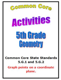 Common Core Math 5th Grade Geometry Activities (5.G.1,2) C