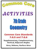 Common Core Math 7th Grade Geometry (7.G.5, 7.G.6) Angles,