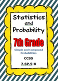 Common Core Math 7th Grade Statistics and Probability CCSS