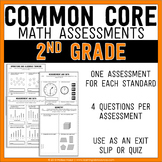 Common Core Math Assessments - 2nd (Second) Grade
