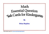 Common Core Math Essential Questions for Kindergarten