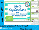 Multiplication NBT4.5 NBT5.5 Common Core Math Explorations