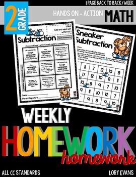 Common Core Math Homework - Grade 2 - Term 3