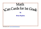 Common Core Math I Can Cards for 1st Grade