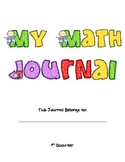 Common Core Math Journal COVER