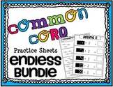 Common Core Math Practice Sheets ENDLESS BUNDLE
