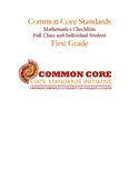 Common Core Math Standards Chart - First Grade.docx