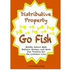 "Common Core Math Stations and Games - ""Go Fish"" Distributi"