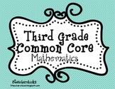Common Core Math Third Grade Checklist and Kid Friendly